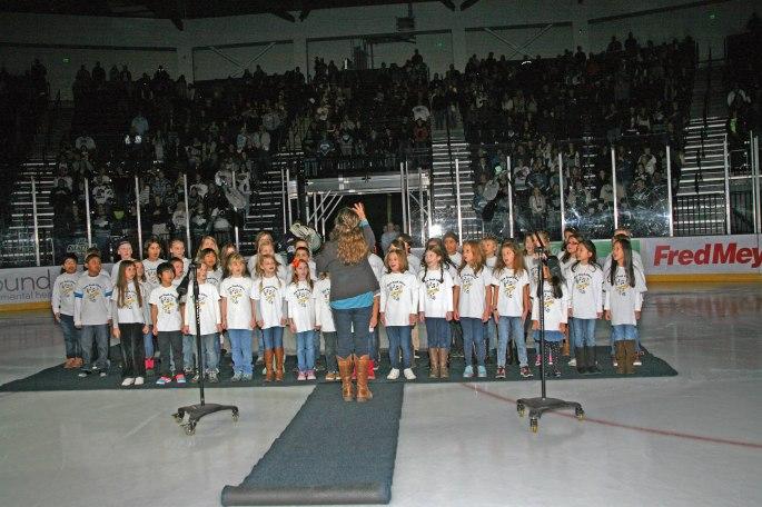 Choir at Hockey